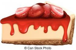 Tart clipart strawberry cheesecake