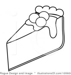 Cheesecake clipart black and white