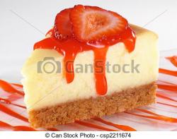 Cheesecake clipart strawberry sauce