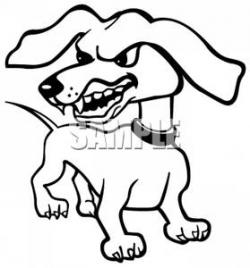 Ferocious clipart mad dog