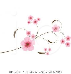 Single clipart cherry blossom