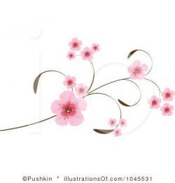 Single clipart cherry blossom