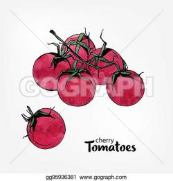 Cherry Tomato clipart hand drawn