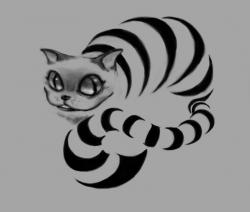 Drawn cheshire cat deviantart