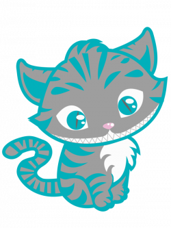 Drawn cheshire cat chibi