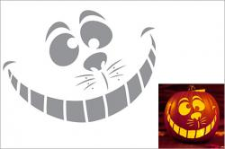 Cheshire Cat clipart pumpkin stencil