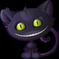 Cheshire Cat clipart transparent
