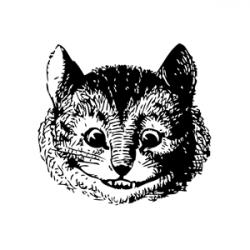 Cheshire Cat clipart vintage