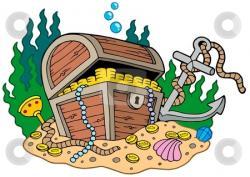 Island clipart treasure chest
