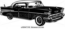 Classic Car clipart 57 chevy