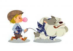 Chewing Gum clipart boy walk