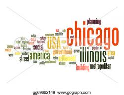 Chicago clipart Chicago Word Clipart