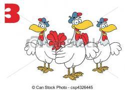 Chicken clipart french hen