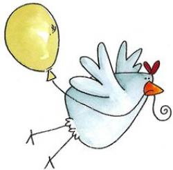 Chicken clipart fly