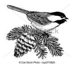 Chickadee clipart Chickadee Illustration