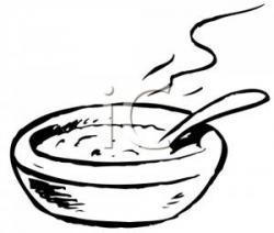 Porridge clipart black and white