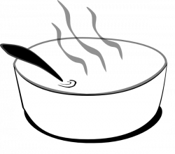 Stew clipart black and white