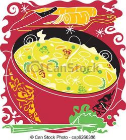 Chicken Soup clipart side dish