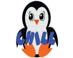 Chilling clipart penguin