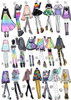 Drawn costume