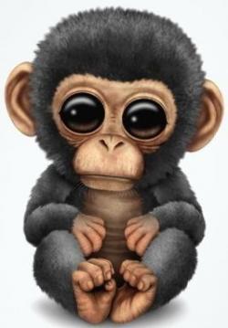 Chimpanzee clipart funny