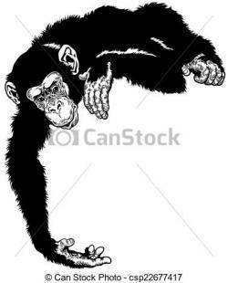Chimpanzee clipart gorilla head