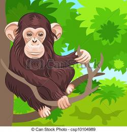 Chimpanzee clipart moneky