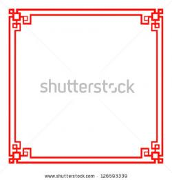 Oriental clipart frame