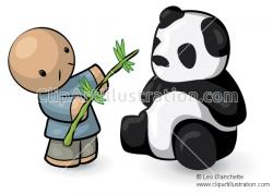 Asians clipart cute panda