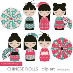 Geisha clipart china doll