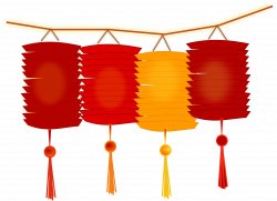 Latern clipart chinese new year decoration