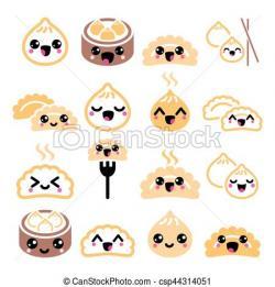 Dumpling clipart cute