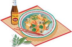 Chinese Food clipart thai food