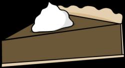Cream clipart chocolate pie