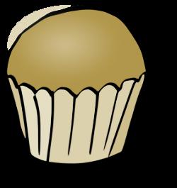 Vanilla Cupcake clipart simple cupcake
