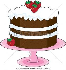 Chocolate Cake clipart strawberry cake