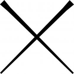 Chopsticks clipart black and white