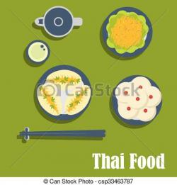 Chopsticks clipart thai