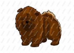 Chow Chow clipart cartoon
