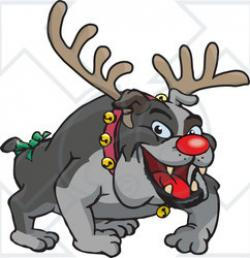 Christmas clipart bulldog