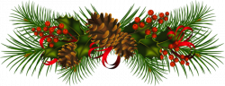 Holydays clipart pinecone