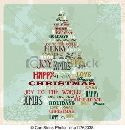 Merry Christmas clipart artwork