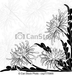 Chrysanthemum clipart vector