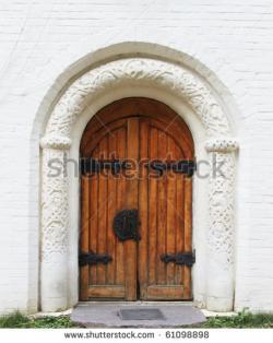 Doorway clipart old door