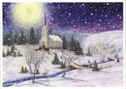 Church clipart snowy