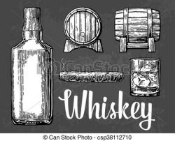 Cigar clipart bourbon