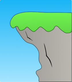 Cliff clipart mountain cliff