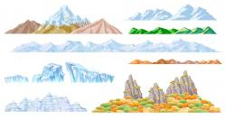 Alps clipart mountain silhouette
