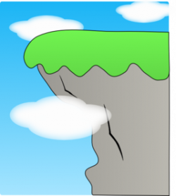 Cliff clipart vector