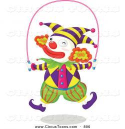 Clown clipart jump